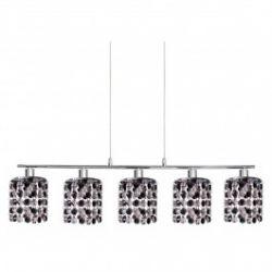 Лампа подвесная 35-35724 «Royal» хрусталики, хром/черный