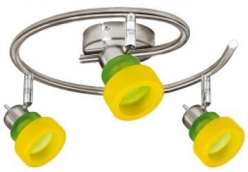 Спот 98-85422 «Venice» желто-зеленый/спираль
