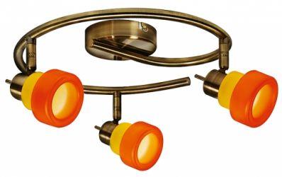 Спот 98-85460 «Venice» оранжево-желтый/спираль