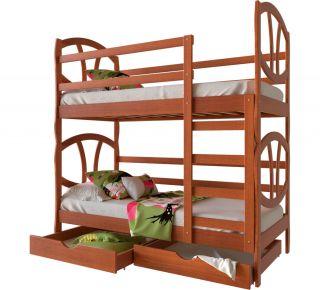 Фото Двухъярусная кровать-трансформер деревянная «Виктория» Массив Ольхи - sofino.ua