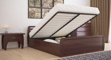 Кровать двуспальная «Анжелика» усиленная с пневмо механизмом
