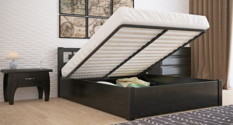 Кровать двуспальная «Диана» усиленная с пневмо механизмом