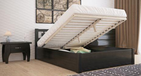 Кровать двуспальная «Диана» с пневмо механизмом