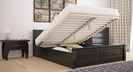 Кровать двуспальная «Квадраты» с пневмо механизмом