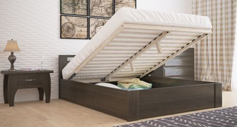 Кровать «Классика стандарт» с пневмо механизмом 140*190