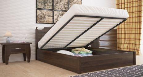 Кровать двуспальная «Миша» усиленная с пневмо механизмом
