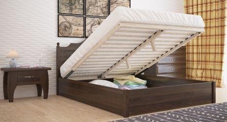 Кровать двуспальная «Миша» с пневмо механизмом