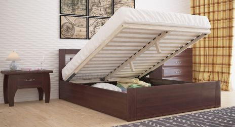 Кровать «Рамка стандарт» с пневмо механизмом 140*190