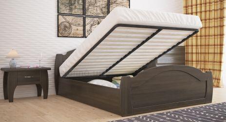 Кровать «Регина стандарт» усиленная с пневмо механизмом 140*190