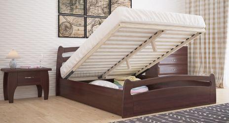Кровать двуспальная «Сидней» с пневмо механизмом