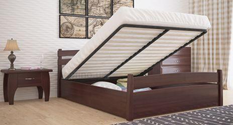 Кровать двуспальная «Токио» усиленная с пневмо механизмом
