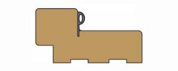 Коробка шпон прямая с уплотнителем ДНТ, орех миланский