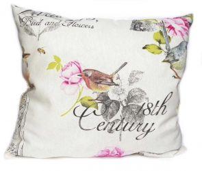 Подушка декор 18694 «Колибри» розовый 40*40