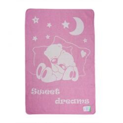 Одеяло детское 17413 «Сони» 100*140 розовый