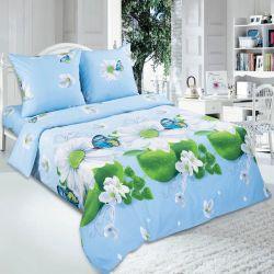 Комплект «Дыхание лета» голубой двуспальный