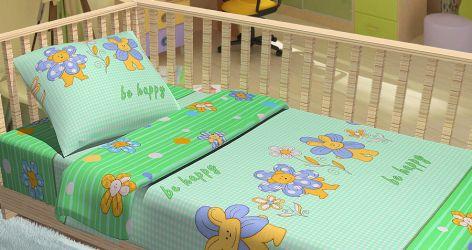 Комплект Baby «Be happy» зеленый