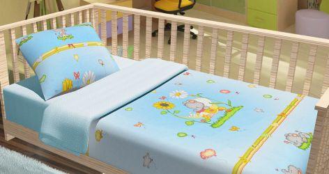 Комплект Baby «Слоники» голубой