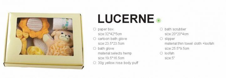 Комплект для ванной 6 пр. (с тапочками) 1390015 «Lucerne»