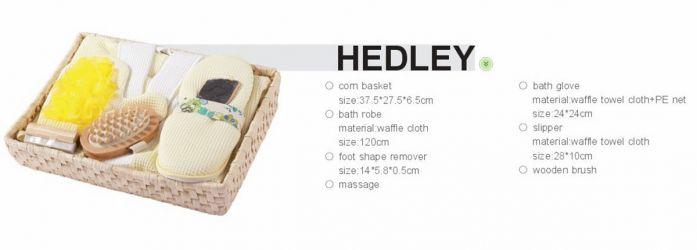 Комплект для ванной (с полотенцем и тапочками) 1390013 «Hedley»