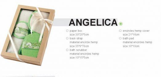 Комплект для ванной 4 пр. (с мочалкой) 1390028 «Angelica»