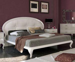 Кровать белая двуспальная «Империя» (М) 1,6 | гл. белый