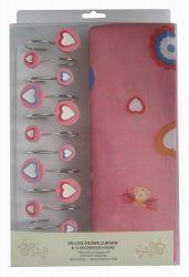 Шторы для ванной «Pink Love 1352008» 180*180