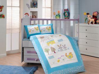 Комплект «Sateen Zoo» детский / голубой