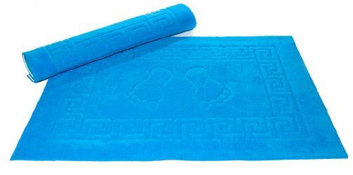 Коврик на резиновой основе 50*75 голубой