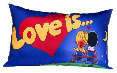 Подушка декор «Love is…» 30*45