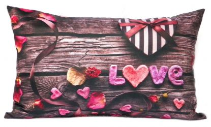 Подушка декор «Love» бежевый 30*45
