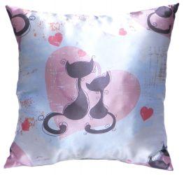 Подушка декор «Влюбленные коты» 35*35