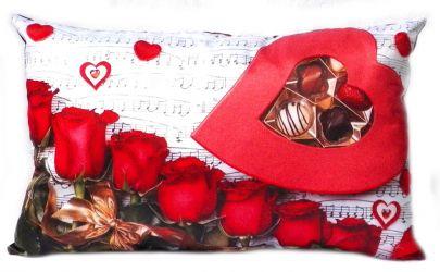 Подушка декор «Симфония» любви 30*45