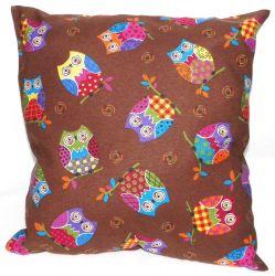 Подушка декор «Совушки» шоколадный 40*40