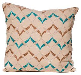 Подушка з наволочкою декор «Волна» 40*40 голубой