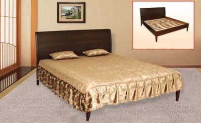 Кровать «Верона» (орех темный) 160*200
