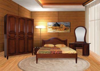 Кровать «Камелия» (орех темный) 160*200