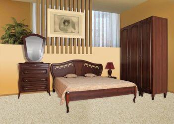 Кровать «Луиза» (шпон) 160*200 | орех