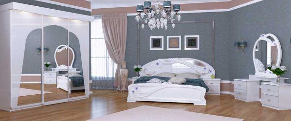 Спальня «Лулу Глянець Белий – Лайт»
