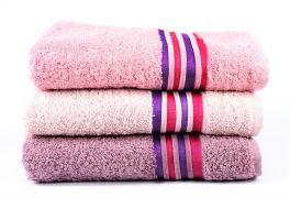 Фото Набор махровых полотенец «Cotton» сиреневый   св.розовый   розовый - sofino.ua