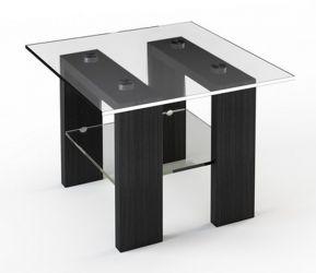 Журнальный стол «JTS 003» 70*70 (Верх прозрачный, низ рисунок)
