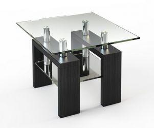 Журнальный стол «JTS 004» 70*70 (Верх прозрачный, низ рисунок)