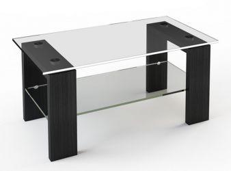 Журнальный стол «JTS 007» 110*63,5 (Верх прозрачный, низ рисунок)