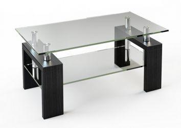 Журнальный стол «JTS 008» 110*63,5 (Верх прозрачный, низ рисунок)