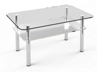 Журнальный стол «JTS 011» 120*70 (Верх прозрачный, низ рисунок)