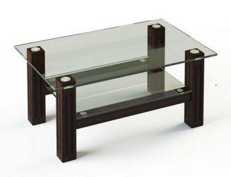 Журнальный стол «JTW 001» 110*63,5 (Верх прозрачный, низ рисунок)