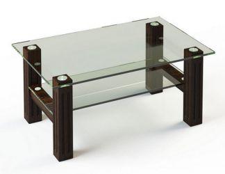 Журнальный стол «JTW 002» 110*63,5 (Верх прозрачный, низ рисунок)