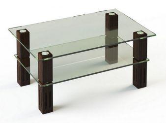 Журнальный стол «JTW 003» 110*63,5 (Верх прозрачный, низ рисунок)