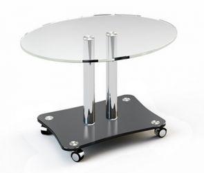 Журнальный стол «JTO 001» 80*50 (Верх прозрачный, низ рисунок)