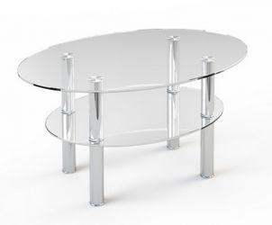 Журнальный стол «JTO 002» 90*60 (Верх прозрачный, низ рисунок)