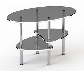 Журнальный стол «JTO 003» 85*50 (Верх прозрачный, низ рисунок)